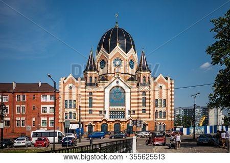 Kaliningrad, Russia - June 20, 2019: New Liberal Synagogue In The City Center Of Kaliningrad.
