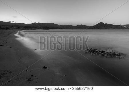 Los Genoveses Beach. San Jose. Natural Park Of Cabo De Gata. Andalucia. Spain.