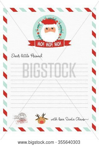 Cute Letter From Santa ClausFrom The North Pole
