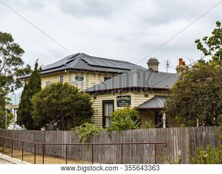 Eden, Australia - December 20, 2019: View Of The Cocora Cottage A Former Police Station Built In 185