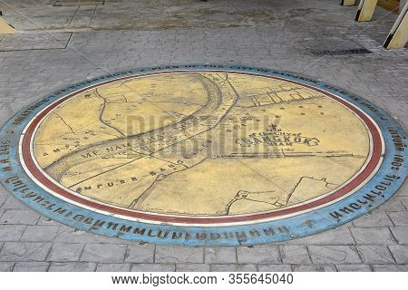 Bangkok, Th - Dec 12: Ground Map Plan At Asiatique The Riverfront On December 12, 2016 In Bangkok, T