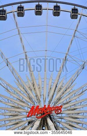 Bangkok, Th - Dec 12: Mekhong Ferris Wheel Ride At Asiatique The Riverfront On December 12, 2016 In