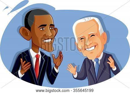Washington¸ Usa, March 14, Barak Obama And Joe Biden Vector Caricature