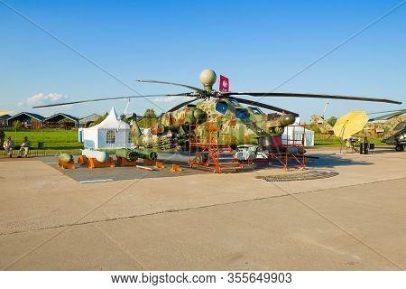 Zhukovsky, Russia - August 30, 2019: Helicopter Mi-28ne