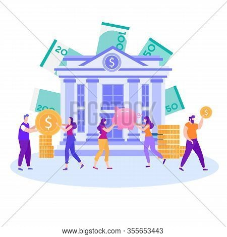 Best Choice Save Accumulate Invest Money Dollars Cash Bank Deposit Promotion Banner People Holding G