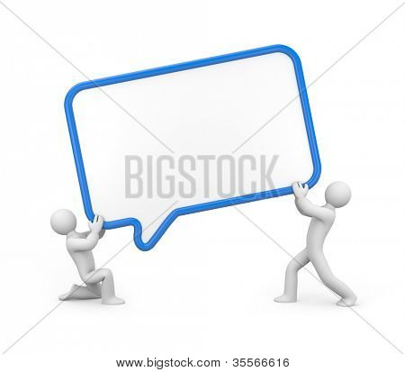 People hold speech cloud