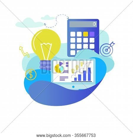 Banner Achieving Strategic And Tactical Goals. Flat Poster Formation Capital Enterprise And Ensuring