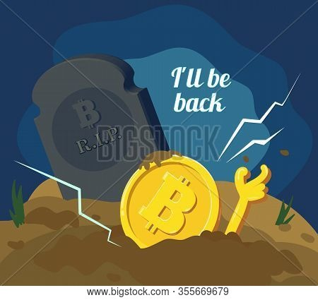 Blockchain And Crypto Currency Crisis. Crypto Currency Devaluation. Bitcoin Zombi.
