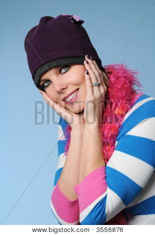 Beautiful Girl With Winter Hat