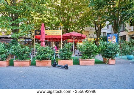 BERLIN, GERMANY - CIRCA SEPTEMBER, 2019: street level view of Berlin in the daytime.