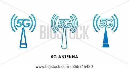 5G, 5G Antenna icon, 5G vector, 5G icon vector, 5G logo, 5G symbol, 5G sign, 5G icon design. 5G Antenna icon vector illustration. 5G connection vector template design. 5G network technology vector illustration for website, logo, app, UI.