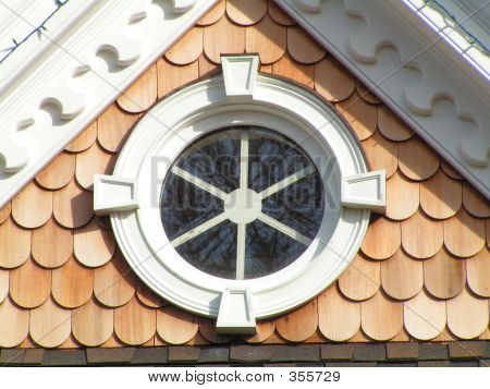 Round Window With Architectural Details