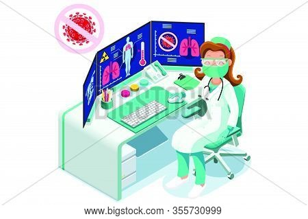Symbolic Alert, Infection Risk Symbol. Coronavirus Virus Infected Person With Fever, Coronaviruses S