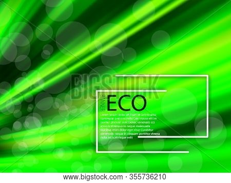 Abstract Illustration With Green Eco Background On Green Background. Eco Background Green. Green Abs