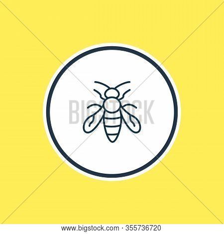 Vector Illustration Of Bee Icon Line. Beautiful Animals Element Also Can Be Used As Sting Icon Eleme
