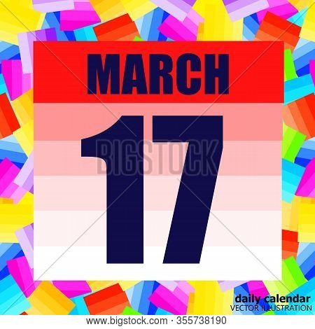 March 17 Icon. For Planning Important Day. Banner For Holidays And Special Days. Seventeenth Of Marc