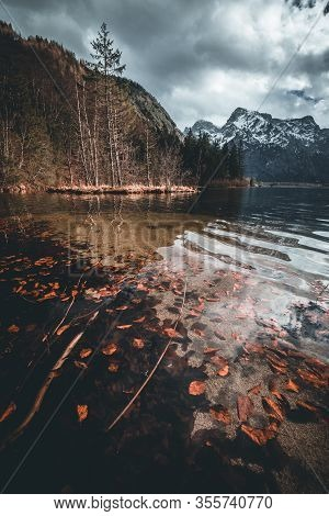 This Is The Almsee In Upper Austria, One Of The Most Beautiful Lakes In The Austrian Apls