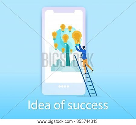 Advertising Poster Idea Of Success Lettering. Deadlines For Implementation And Prioritization. On Sc