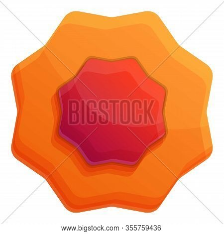 Jelly Biscuit Icon. Cartoon Of Jelly Biscuit Vector Icon For Web Design Isolated On White Background