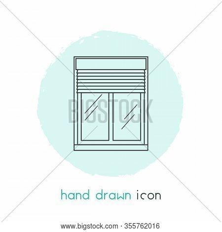 Window Siding Icon Line Element. Vector Illustration Of Window Siding Icon Line Isolated On Clean Ba