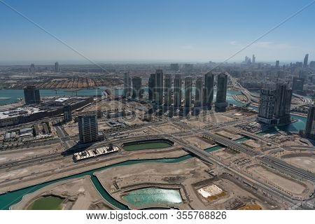 Aerial View Of Abu Dhabi City Skyline From Al Reem Island   Middle East Travel Destinations   United
