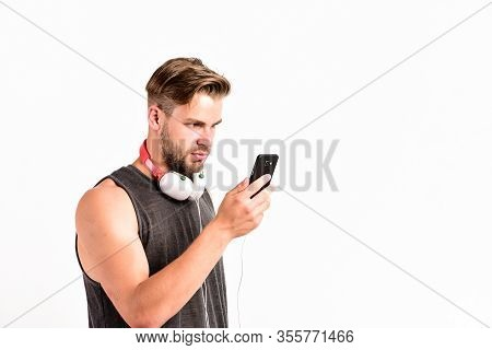 Using Technology For Leisure Or Education. Ebook And Online Education. Music Education. Sexy Muscula