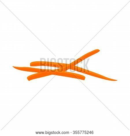 Vector Design Of Carrot And Fresh Logo. Web Element Of Carrot And Cooked Stock Symbol For Web.
