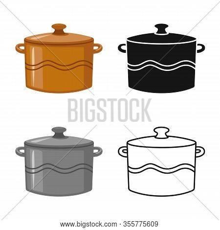 Isolated Object Of Crockery And Clean Sign. Graphic Of Crockery And Ceramic Stock Vector Illustratio