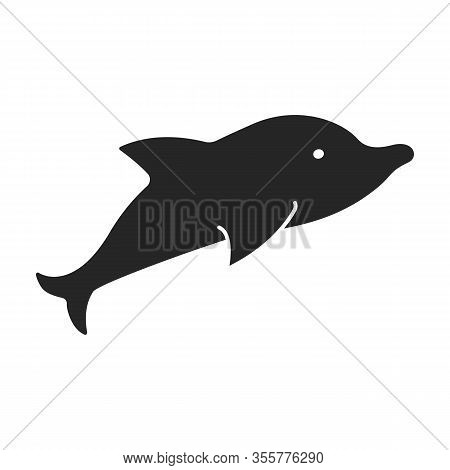 Whale Orca Vector Icon.black Vector Icon Isolated On White Background Whale Orca.