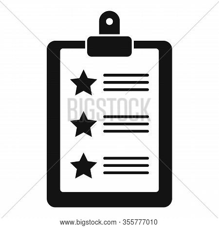 Famous Actor Checklist Icon. Simple Illustration Of Famous Actor Checklist Vector Icon For Web Desig