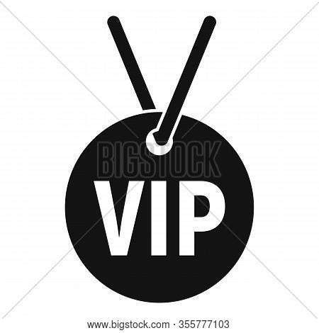 Vip Necklace Icon. Simple Illustration Of Vip Necklace Vector Icon For Web Design Isolated On White