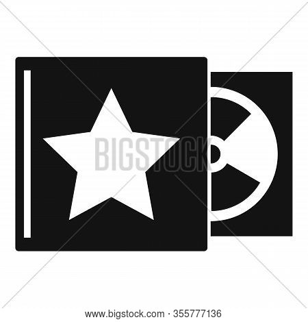 Celebrity Music Cd Icon. Simple Illustration Of Celebrity Music Cd Vector Icon For Web Design Isolat