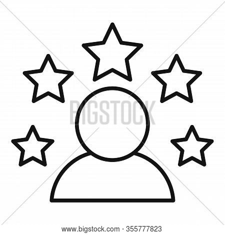 Celebrity Person Icon. Outline Celebrity Person Vector Icon For Web Design Isolated On White Backgro