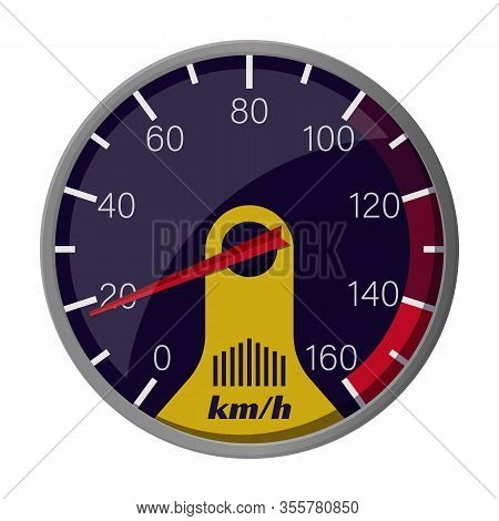 Speedometer Vector Icon.cartoon Vector Icon Isolated On White Background Speedometer .