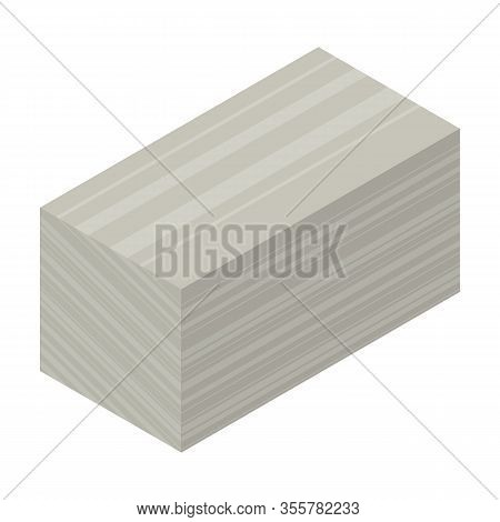 Material For Insulation Isometric Vector Icon.cartoon Vector Icon Isolated On White Background Mater
