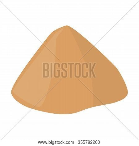 Pile Of Sand Isometric Vector Icon.cartoon Vector Icon Isolated On White Background Pile Of Sand .
