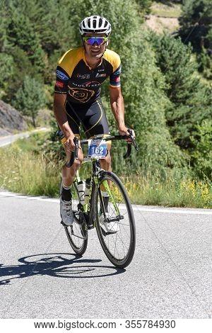La Massana, Andorra : 2017 July 16 : Cyclists On The Start In Volta Als Ports D Andorra 2017 In Ando