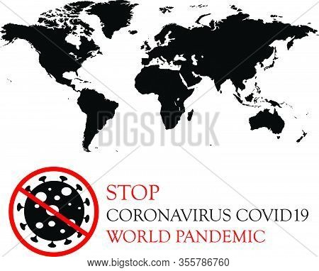 Stop Virus Vector Illustration. Coronavirus Covid19 Pandemic, Epidemic Control. Stop Coronavirus Out