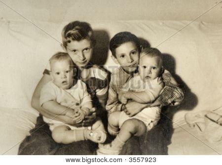Vintage 1945 Era Family