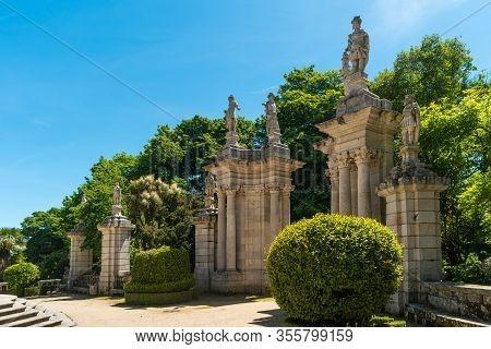 Nossa Senhora Dos Remedios Church, Lamego, Tras-os-montes, Portugal.
