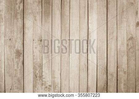 Old Wood Texture Background Surface. Brown Wood Texture Table Surface Top View. Vintage Wooden Textu