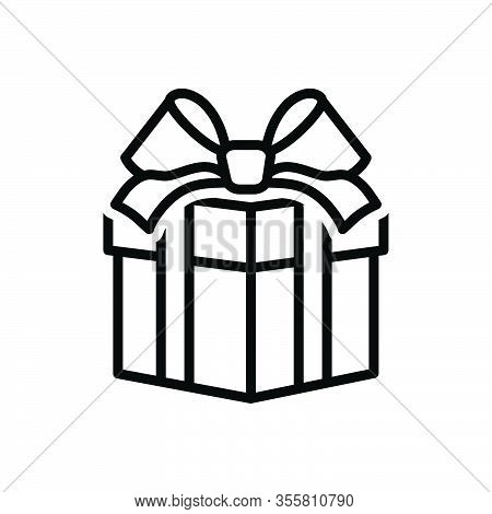 Black Line Icon For Gift Contribution Souvenir Giveaway Fairing  Bounty Present Giftbox Package Parc