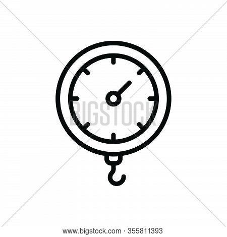 Black Line Icon For Weight Heft Meterage Ponderosity Sinker Encumbrance Stowage Heaviness Pressure