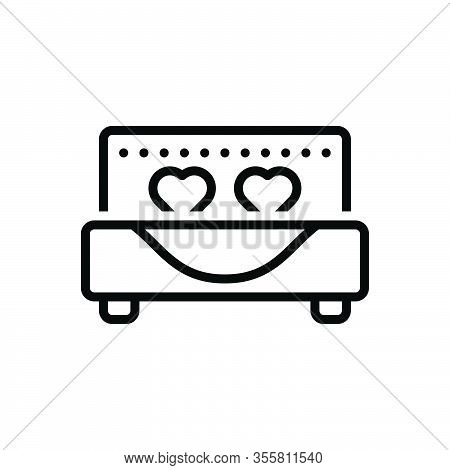 Black Line Icon For Married Honeymoon Romantic Bed Marital Gender Relationship Wed Get-married Marry