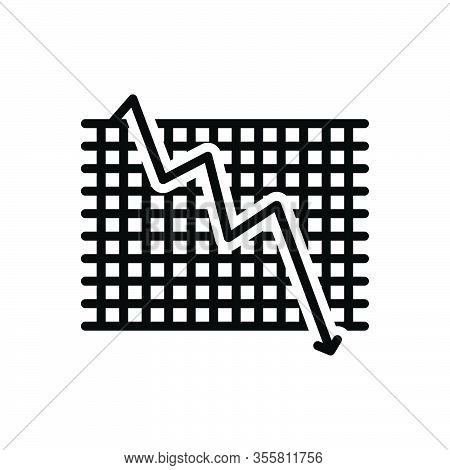 Black Line Icon For Decline Downfall Relapse Decadence Wane Reduction Decrease Failure Downturn