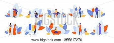 Set Of Creative Occupations, Hobby Concept. Collection Of Various Peoples Hobbies And Proffessions.