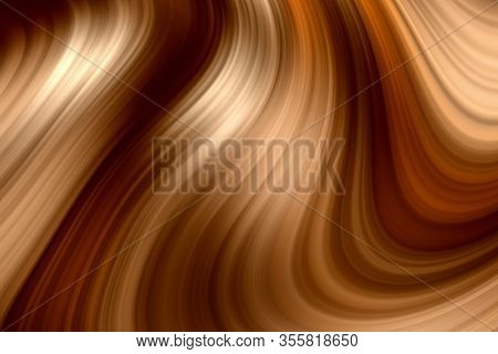 Abstract 3d Rendering Elegant Brown Color Swirl Effect Illustration Texture Wallpaper. Vibrant Color