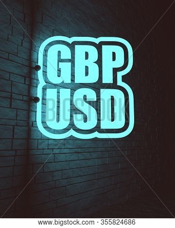 Financial Market Concept. Currency Pair. Acronym Gbp - Great Britain Pound Currency. Acronym Usd - U