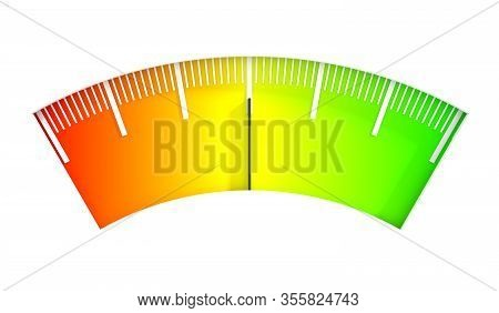 Level Scale With Arrow. The Measuring Device Icon. Sign Tachometer, Speedometer, Indicators. Infogra