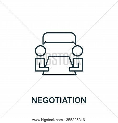 Negotiation Icon From Life Skills Collection. Simple Line Negotiation Icon For Templates, Web Design